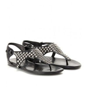 Burberry studded embellished t strap sandals